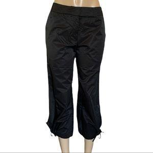 NWOT Isabel Kristensen Couture 💯% Linen Wide Leg Ankle Tie Capri Crop Pants